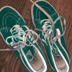 Green high top vans